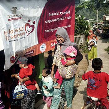 Indonesia Tersenyum, Ajak Desa Kutajaya Hidup Sehat